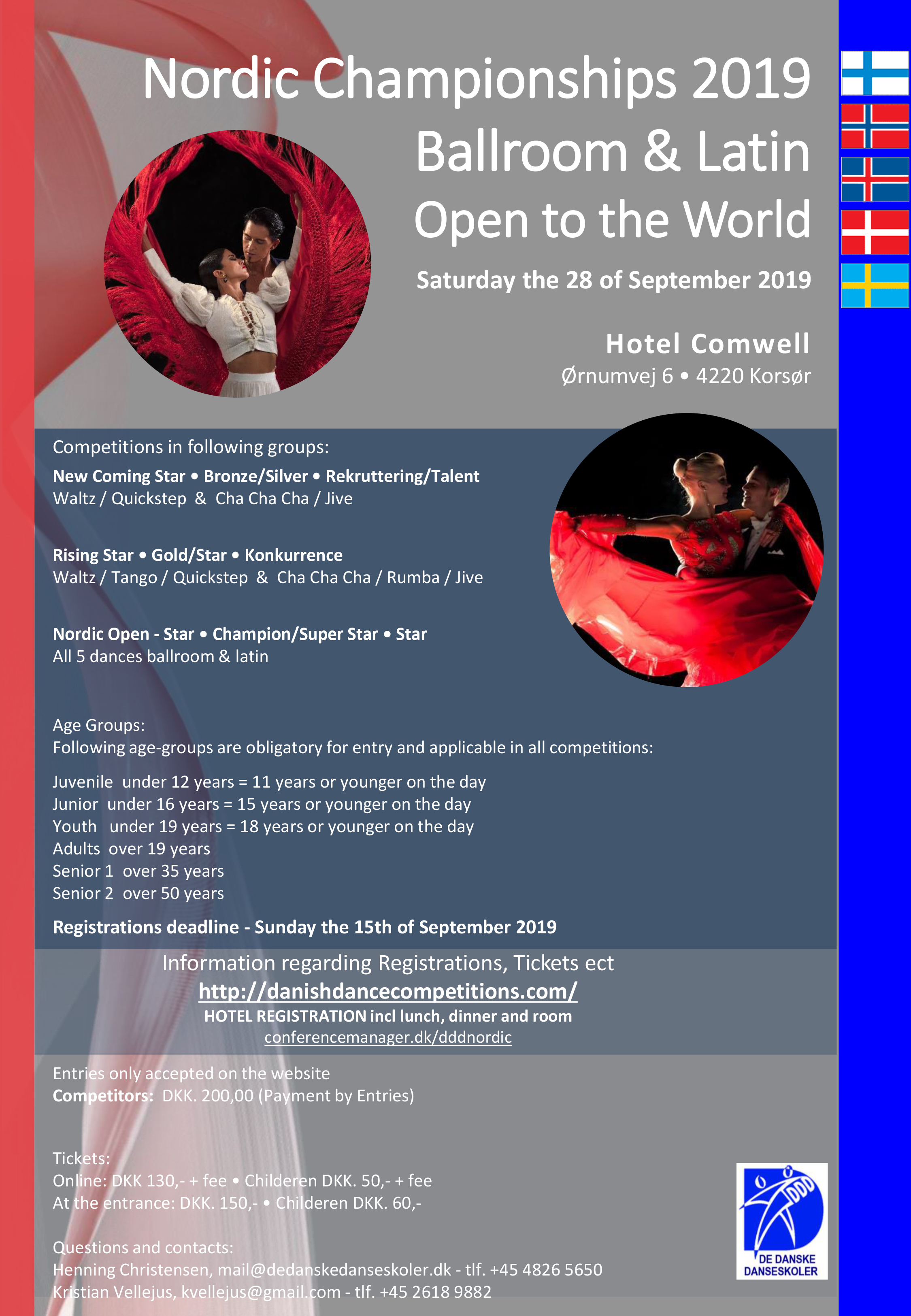 [DDD] Nordic Championships 2019 Ballroom & Latin Open to the World