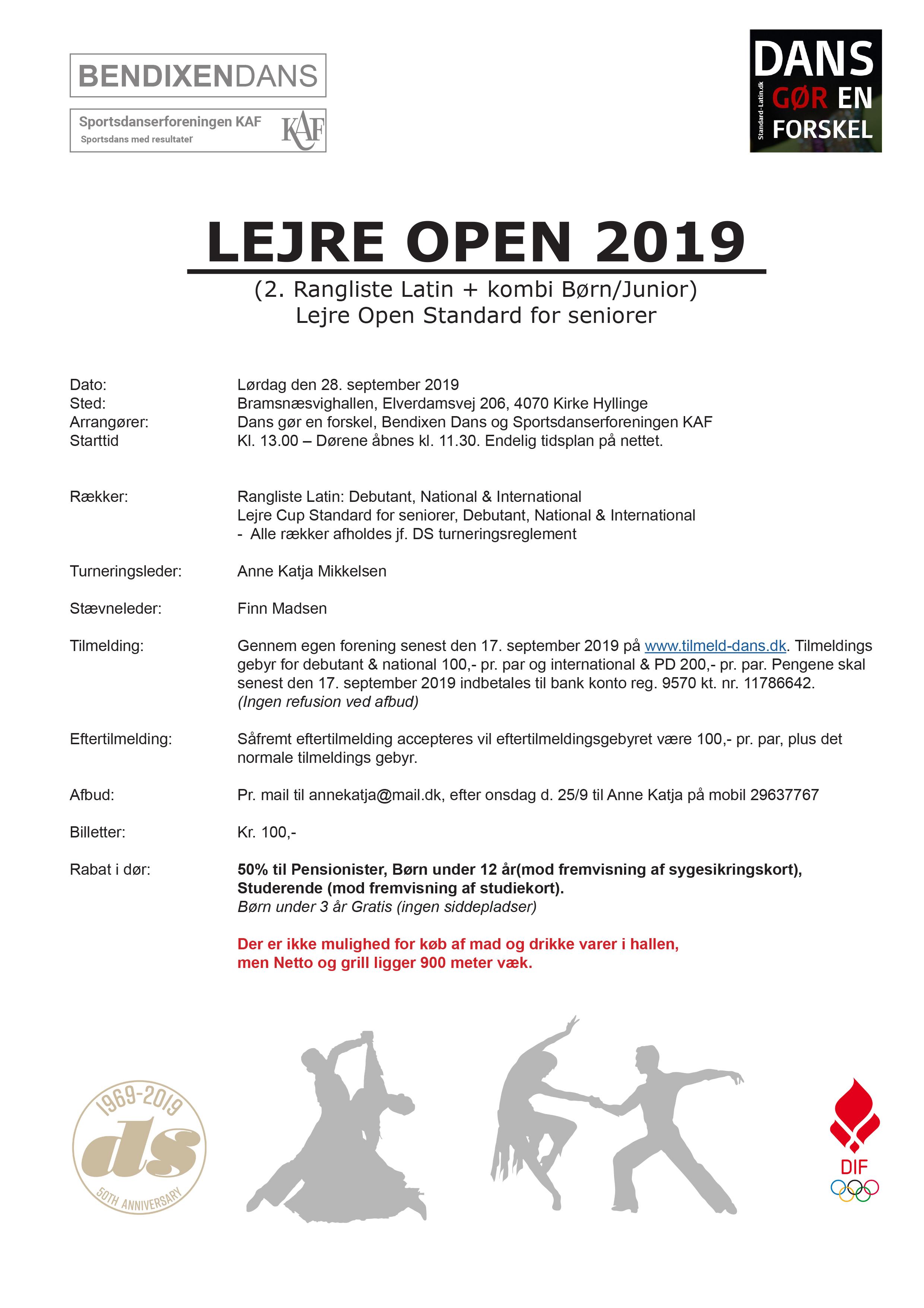 [DS] 2. rangliste i latin + kombi Børn/Junior (Lejre Open 2019)